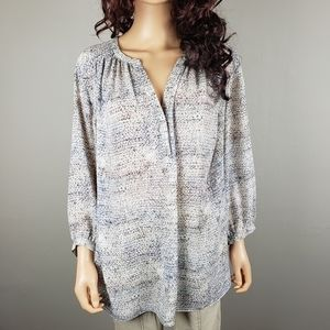 ✿❀ Violet + Claire Ivory Speckled Top 3/4 Slv  ❀✿
